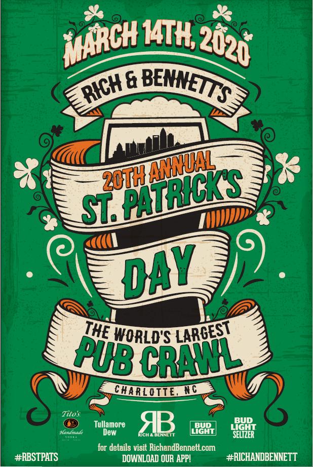 Rich & Bennett's 20th Annual St. Patrick's Day Pub Crawl