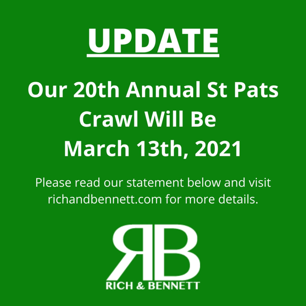 Rich & Bennett's 20th Annual St. Patrick's Day Pub Crawl