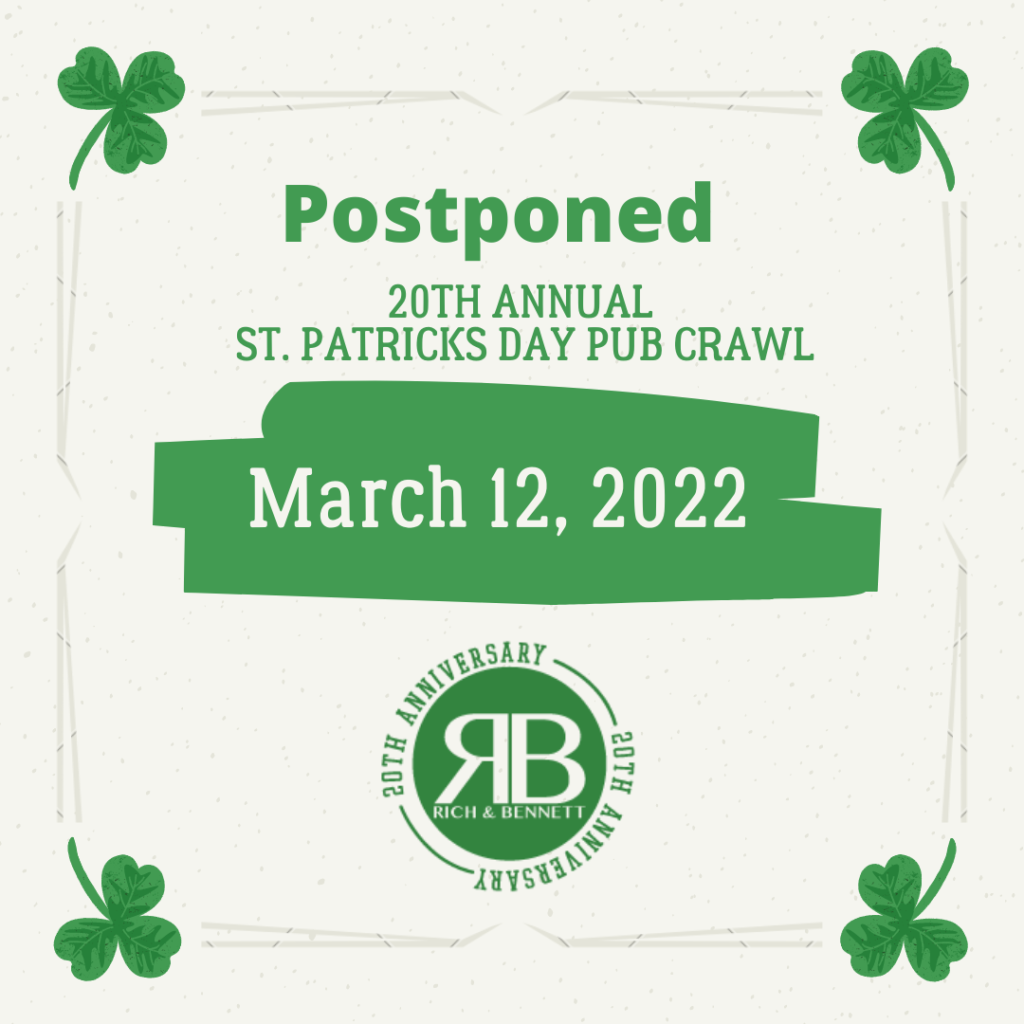 Rich and Bennett's 20th Annual St. Patrick's Day Pub Crawl